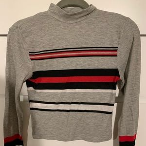 H&M long sleeve crop turtleneck